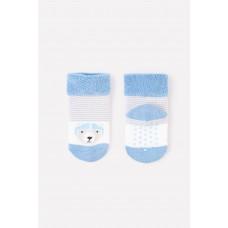 9508/39 носки/молочный, голубой