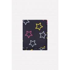 8512 пеленка/розовые звезды на тем.сером