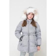 34048/н/2 куртка/серый, текстурное ассорти