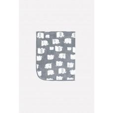 85000 Плед/темно-серый, маленькие слоники
