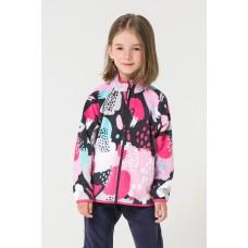 34011/н/33 Куртка/графит, разноцветные краски