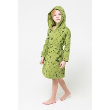 5483 Халат для мальчика/брызги краски на зеленом