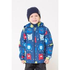 30080/Н/3 Куртка/темно-синий, монстрики
