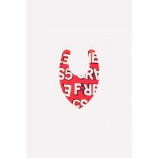 8522 Нагрудник/красный, графичные буквы к214