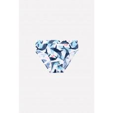 18004/1н Плавки для мальчика/синие киты на белом