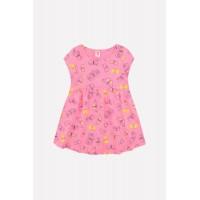 5515 Платье/клубничное суфле, бабочки