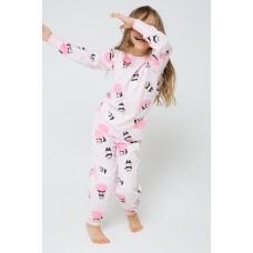 1512 Пижама/панды в космосе на нежно-розовом