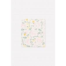 8512 пеленка/зайчики в цветах на белой лилии