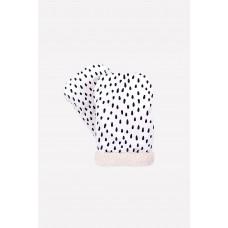 10007/н/5 рукавицы/белый, крапинка