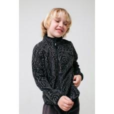 34011/н/44 Куртка/черный, серые волны