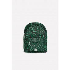 1001/119 Рюкзак/черный, ярко-зеленые волны