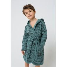 5483 Халат для мальчика/мозайка на зеленой полыне