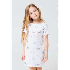 1145 Сорочка /веселые детки на белом
