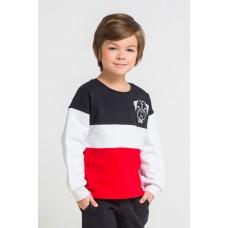 300769 джемпер /черный, серый меланж, красный к216