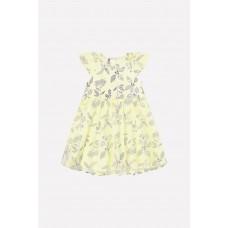 5537 Платье/бледно-лимонный, летние цветы
