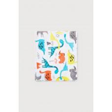 8514 пеленка/цветные динозавры на белом