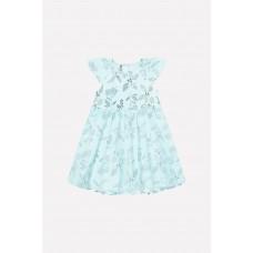 5537 Платье/минт, летние цветы