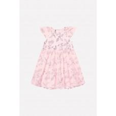 5537 Платье/светлый лосось, летние цветы