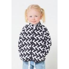 34011/н/27 Куртка / белый, черный, геометрия