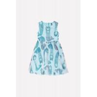 5526 Платье/мятная конфета, русалки