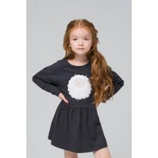 Платье для девочки/темно-серый