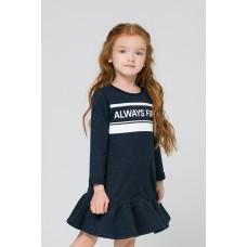 Платье для девочки/индиго